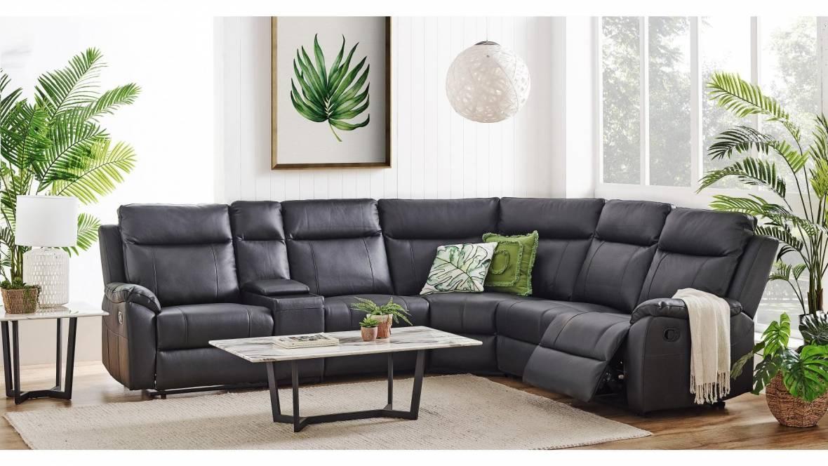 Goliath 5-Seater Leather Modular Lounge Suite