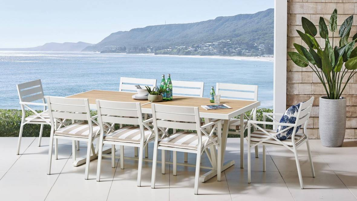 Mia 9-Piece Outdoor Dining Setting
