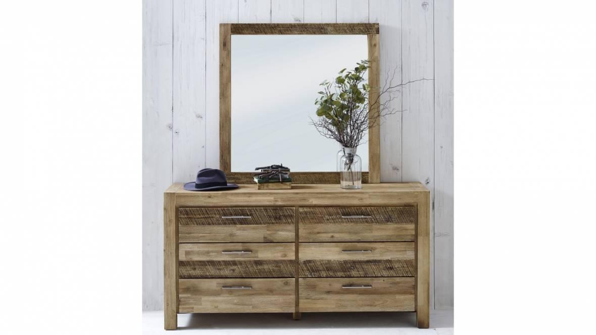 Denver 6-Drawer Dresser with Mirror