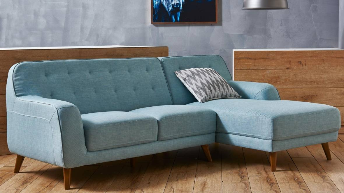 Buy brosnan fabric sofa with chaise harvey norman au - Harvey norman living room furniture ...