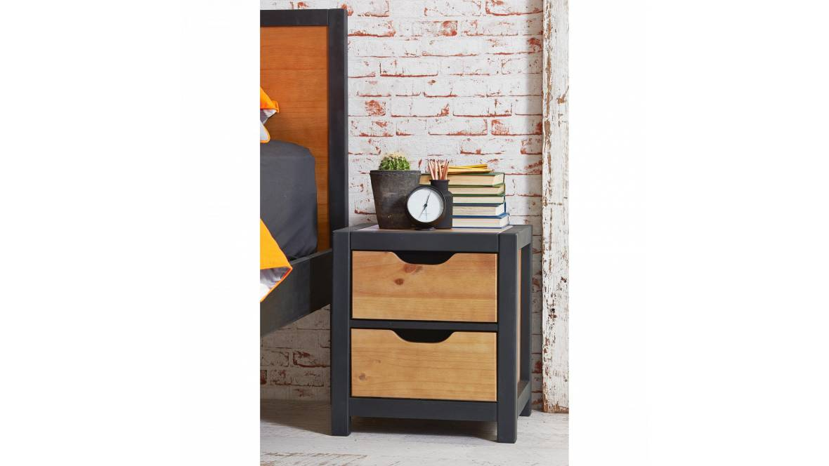 Eton II 2 Drawer Bedside Table