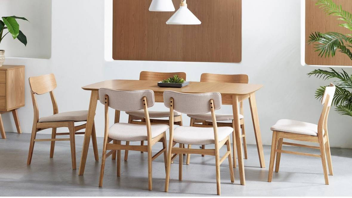 Cody 7-Piece Extension Dining Setting - Natural
