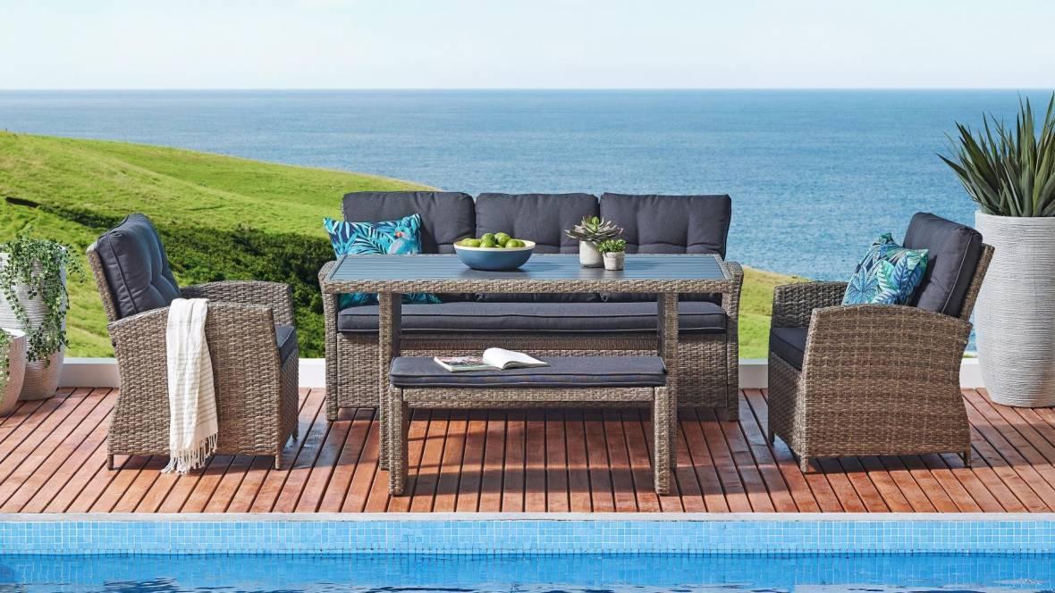Fontana 5-Piece Outdoor Lounge/Dining Setting