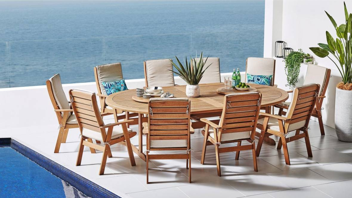 Quebec 13-Piece Outdoor Dining Setting
