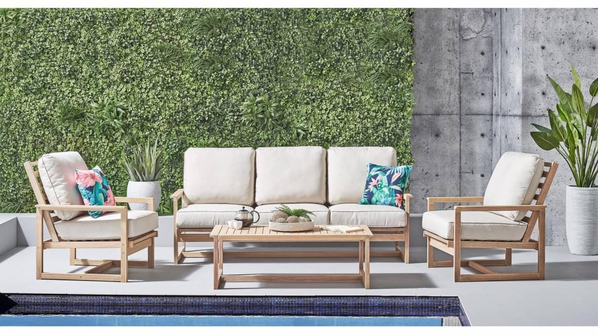 Blaze Outdoor 4-Piece Lounge Setting