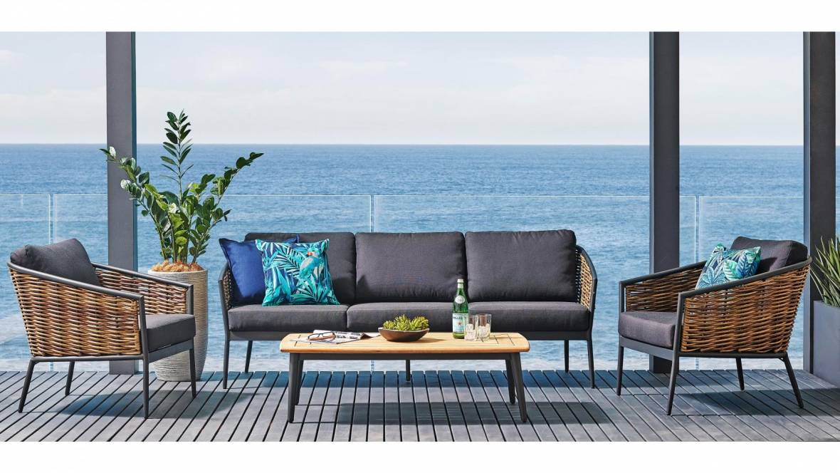 Dario 4-Piece Outdoor Lounge Setting