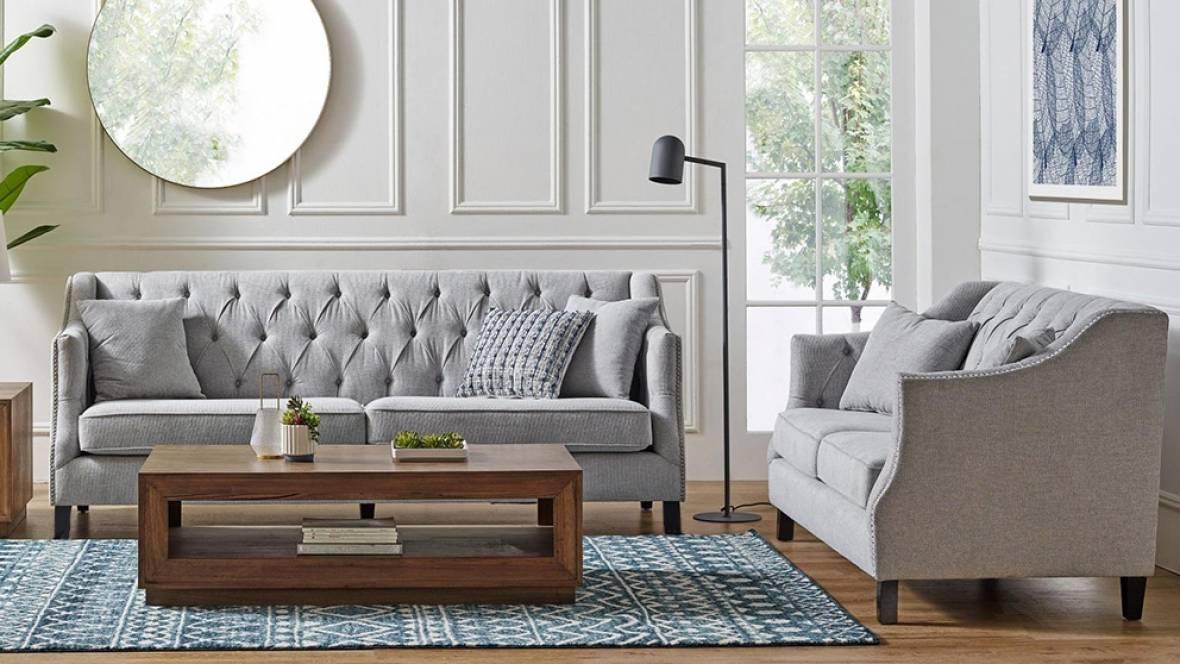 Vermont 2-Piece Fabric Lounge Suite