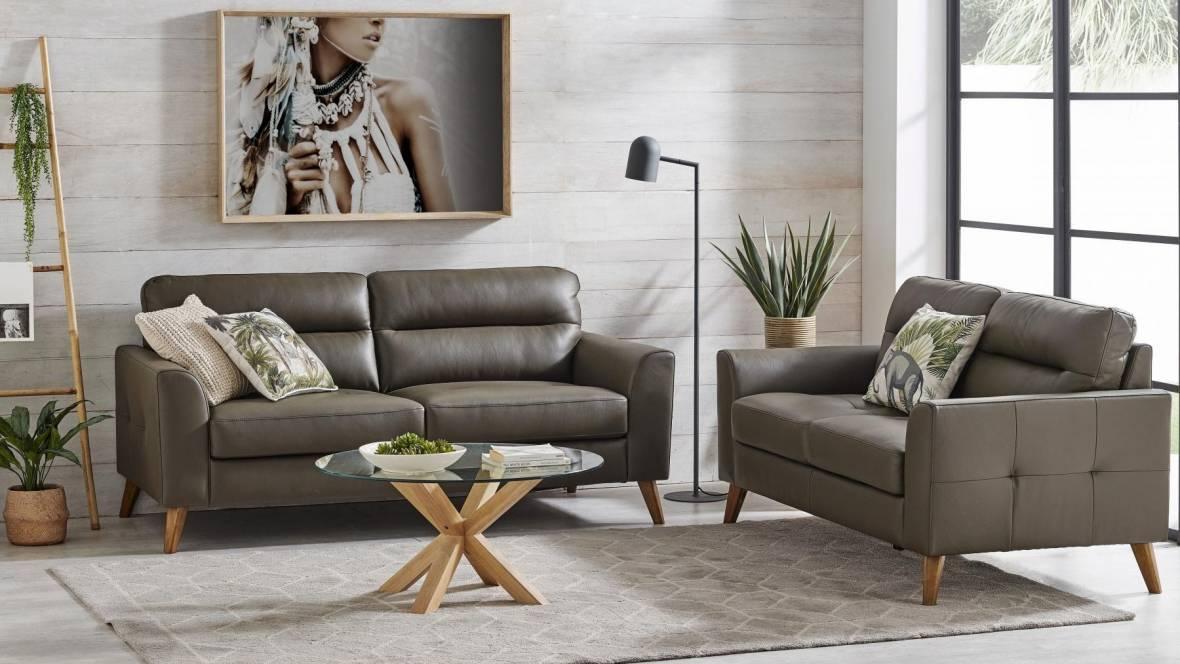 Optimum 2-Piece Leather Lounge Suite