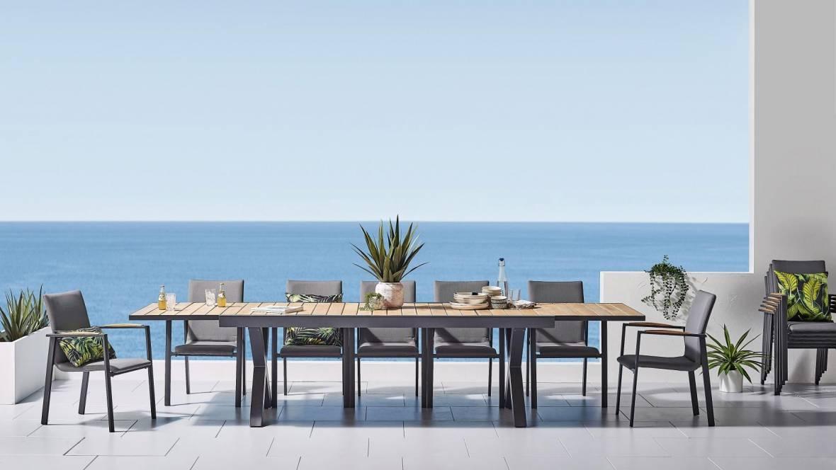 Kent 13-Piece Outdoor Rectangular Dining Setting
