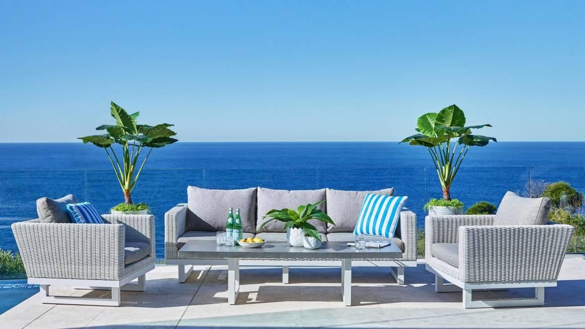 Cadiz 4-Piece Outdoor Lounge Setting