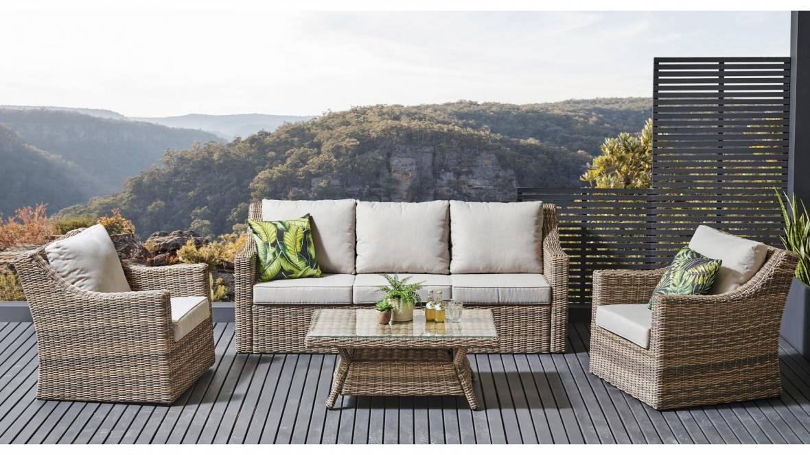 Andina 4-Piece Outdoor Lounge Setting