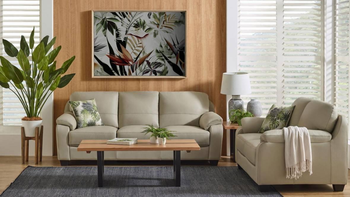 Coda 2-Piece Leather Lounge Suite