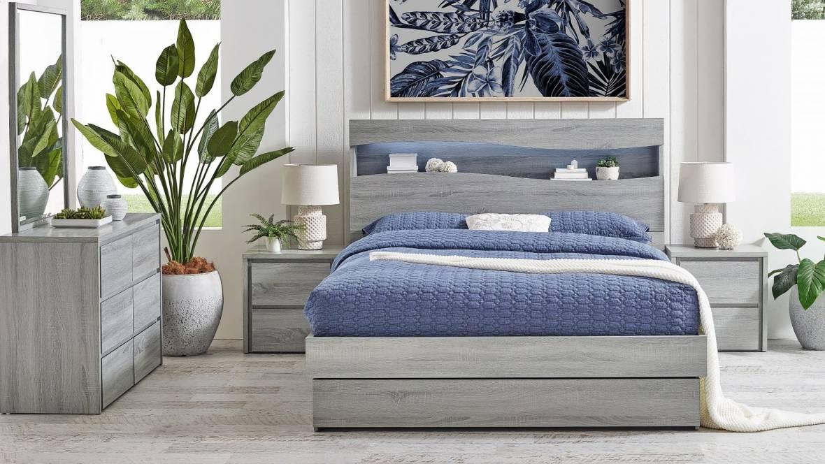 Wave 3-Drawer Bed