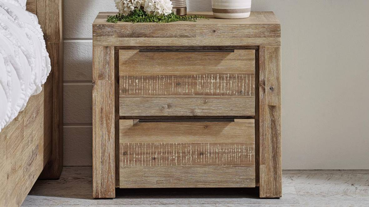 Ballina 2-Drawer Bedside Table