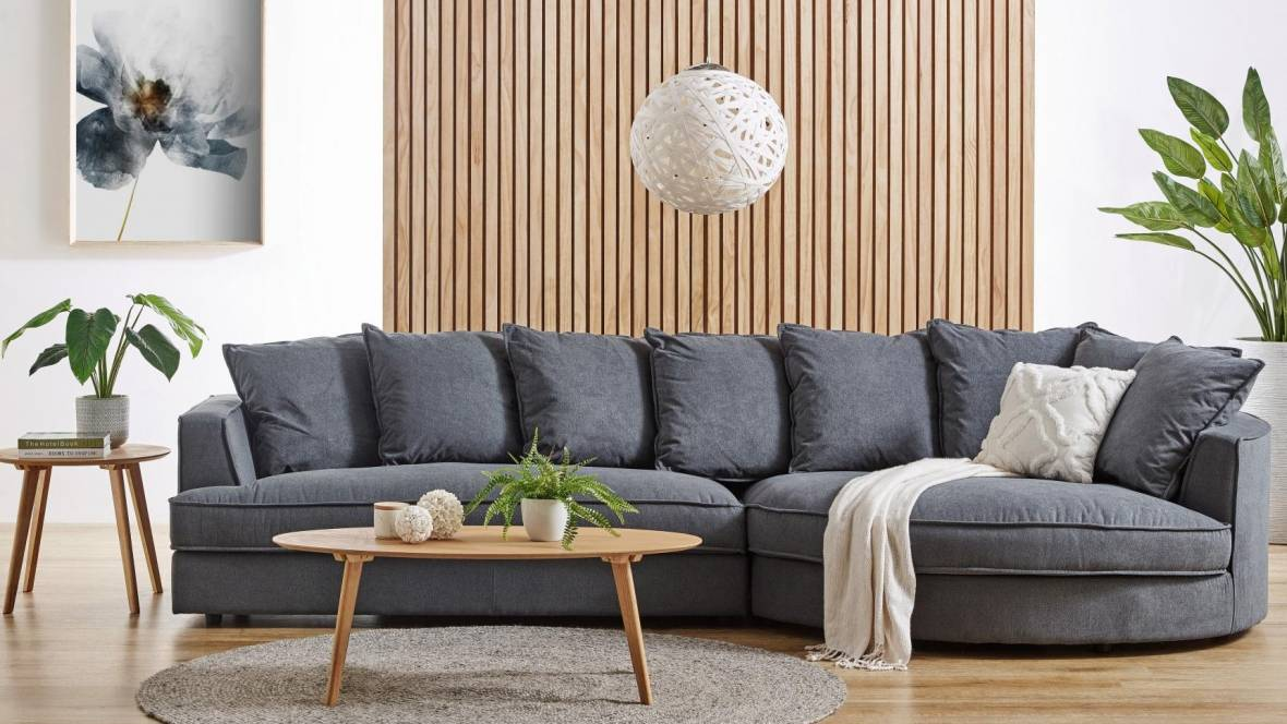 Jai 3-Seater Fabric Sofa with Chaise