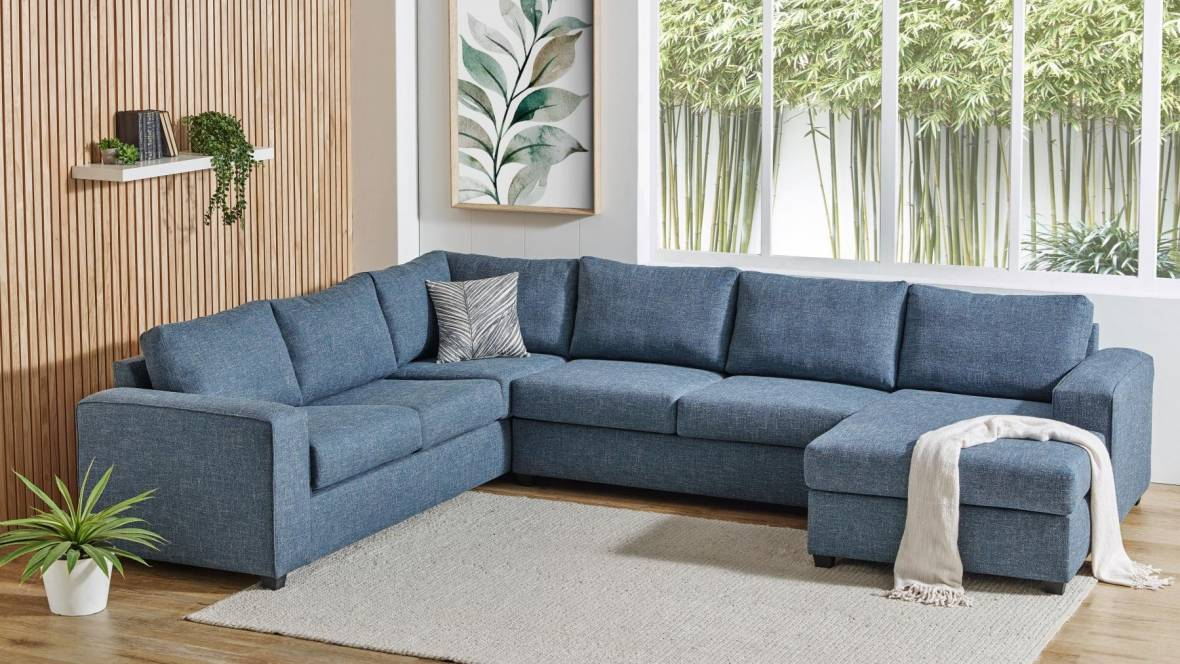 Albion Fabric Modular Lounge Suite with Chaise