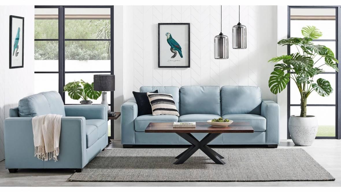 Mira 2-Piece Leather Lounge Suite