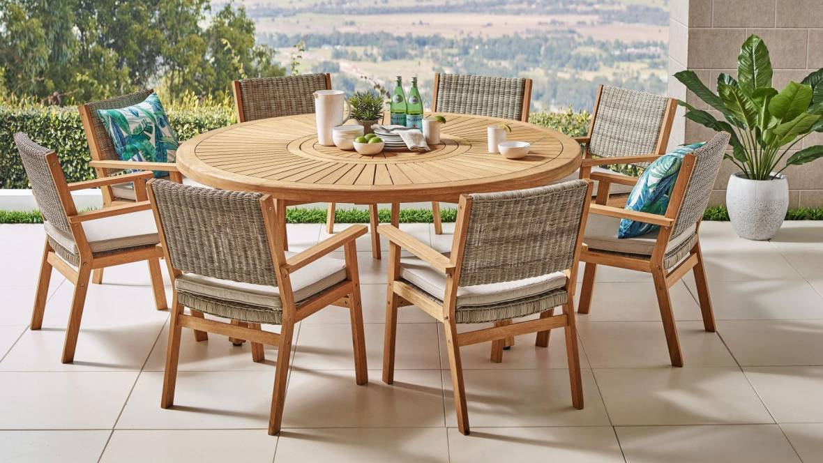 Flos 9-Piece Outdoor Dining Setting