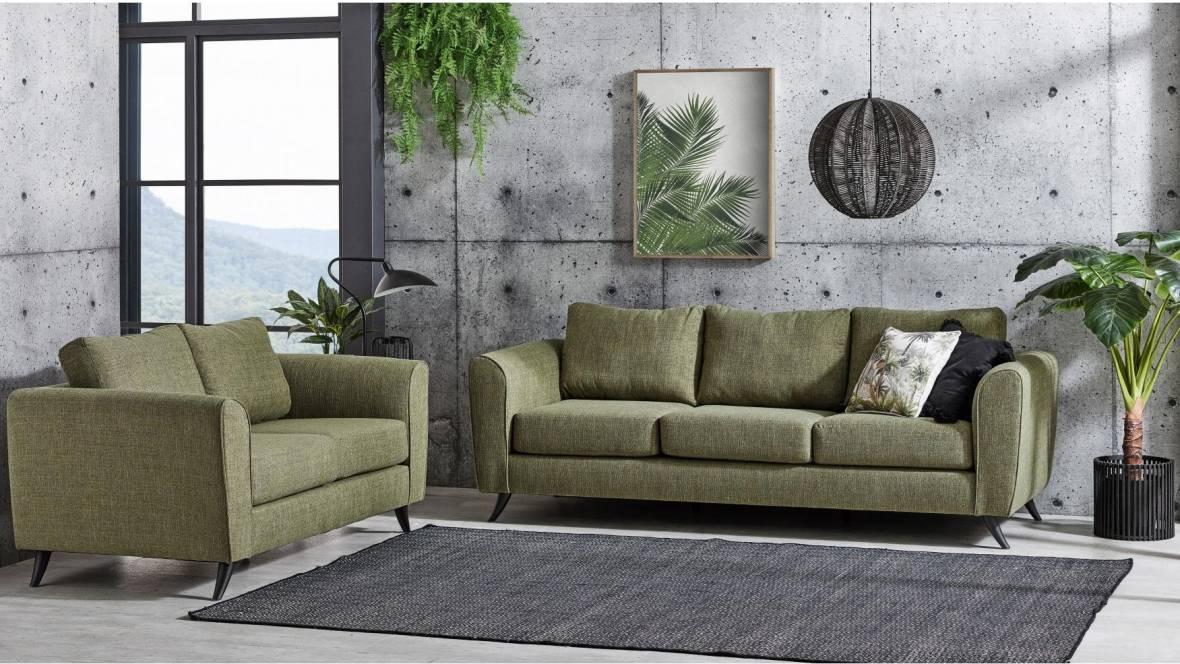 Devon 2-Piece Fabric Lounge Suite