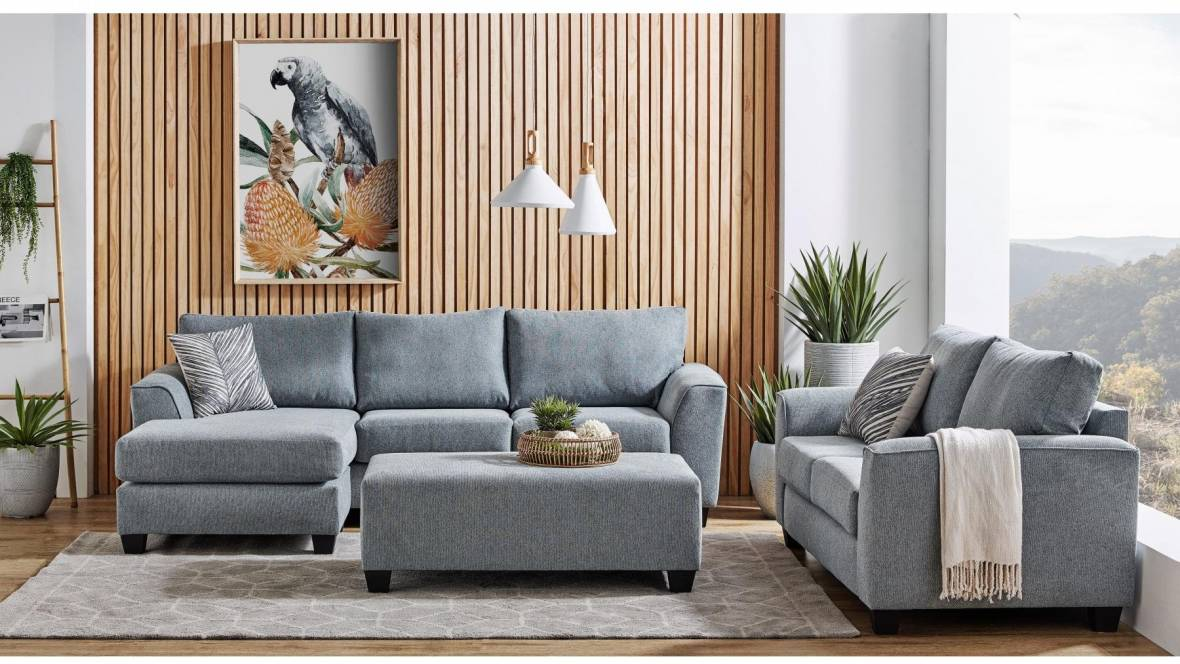 Burwood 3-Piece Fabric Lounge Suite