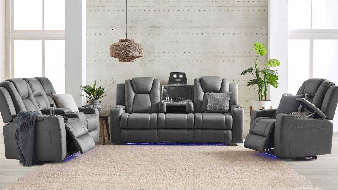 Whitehaven Fabric Recliner Sofa