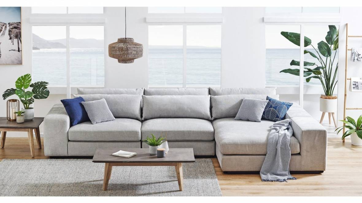 Montreal 2.5 Seater Fabric Lounge with Chaise