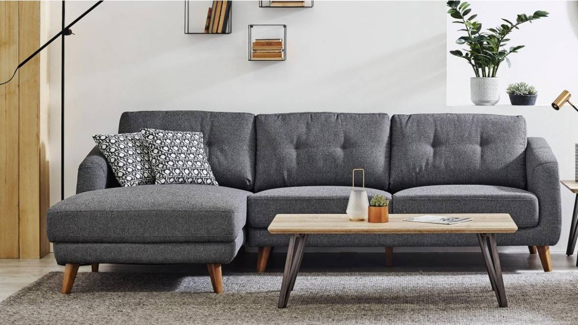 Eleanor 3-Seater Fabric Sofa with Chaise