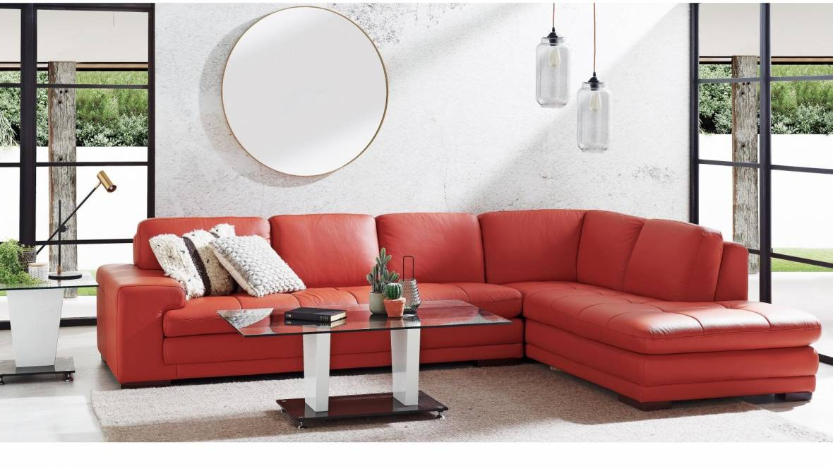Buy Dylan Leather Corner Sofa with Chaise | Harvey Norman AU