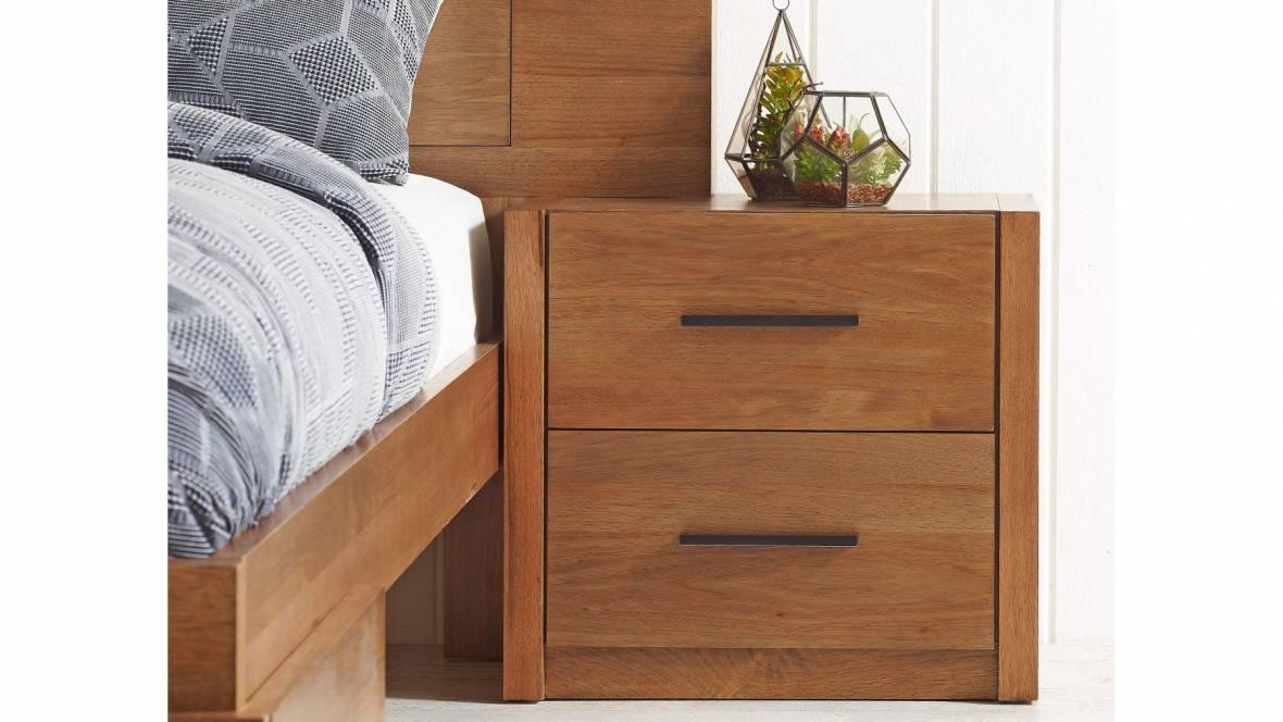 Delta 2-Drawer Bedside Table