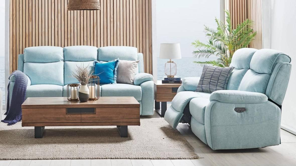 Estelle Fabric Powered Recliner Sofa