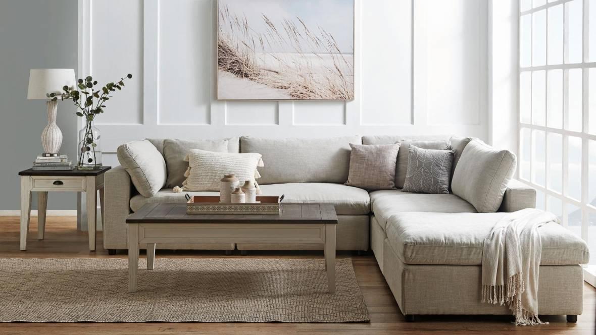 Dominion 5-Piece Fabric Modular Lounge Suite