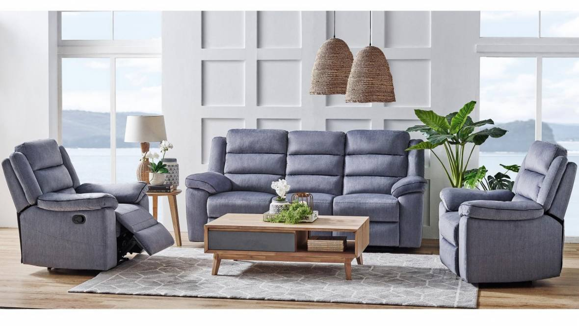 Nassau 3-Piece Fabric Lounge Suite