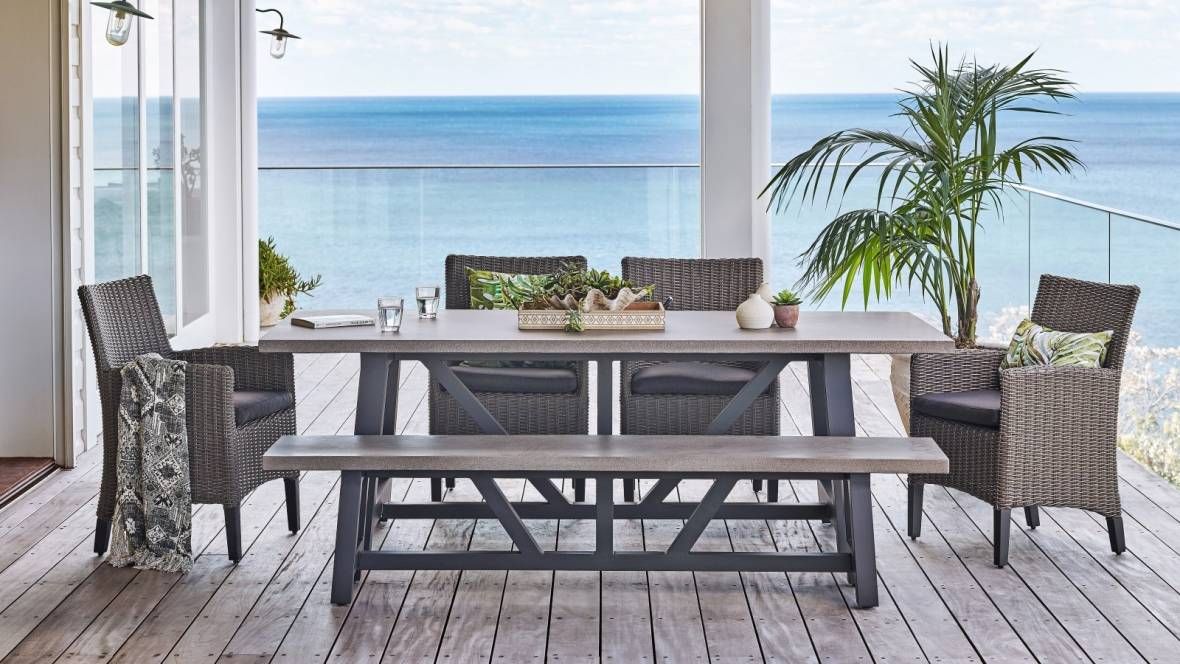 Tonic Outdoor Rectangular Dining Setting