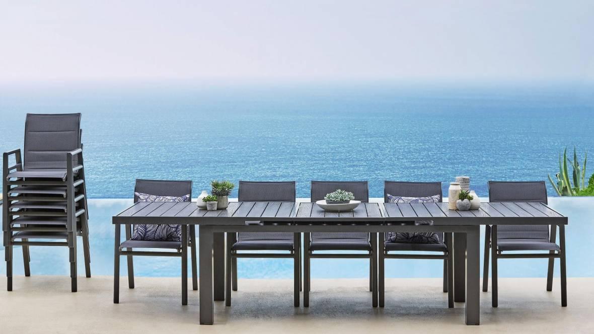 Caspar 11-Piece Outdoor Extension Dining Setting