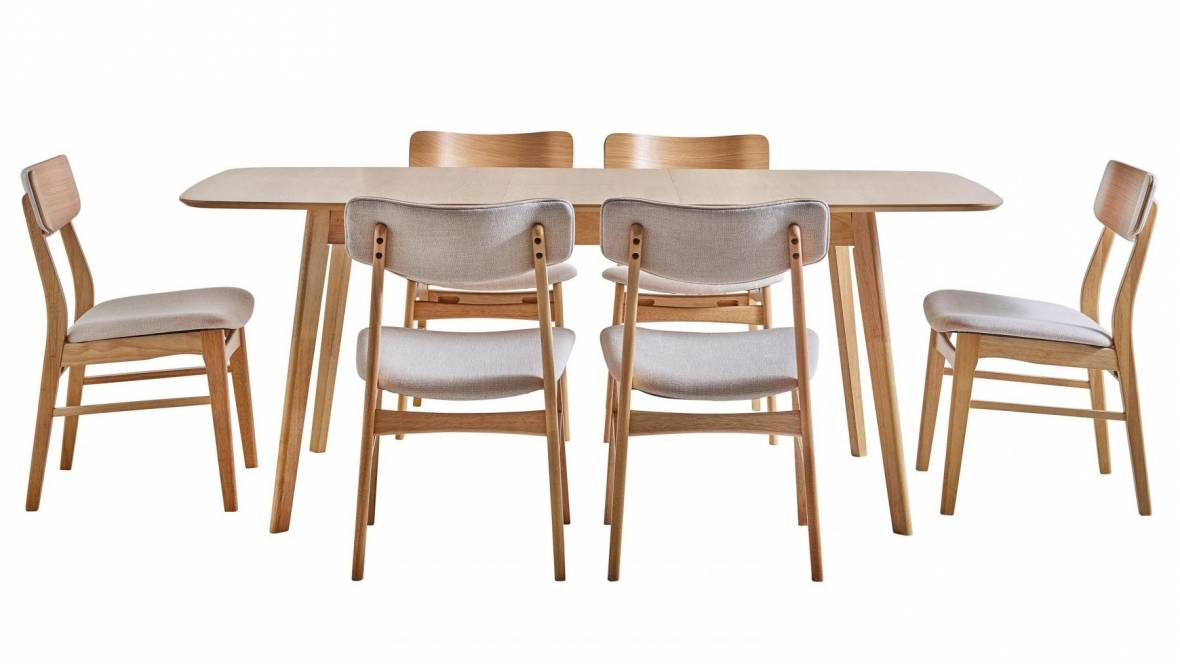 Cody 7-Piece Extension Dining Setting