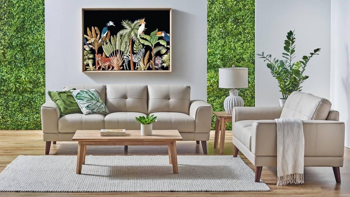 Verona 2-Piece Leather Lounge Suite