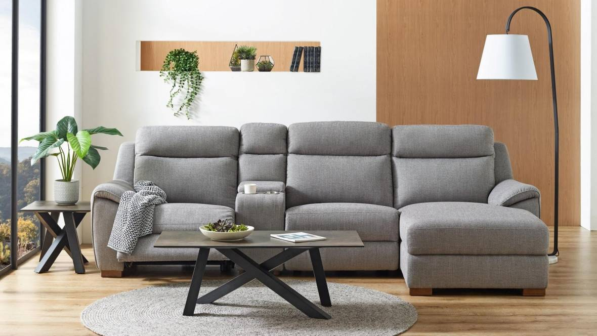 Chicago 3-Seater Powered Recliner Sofa with Chaise