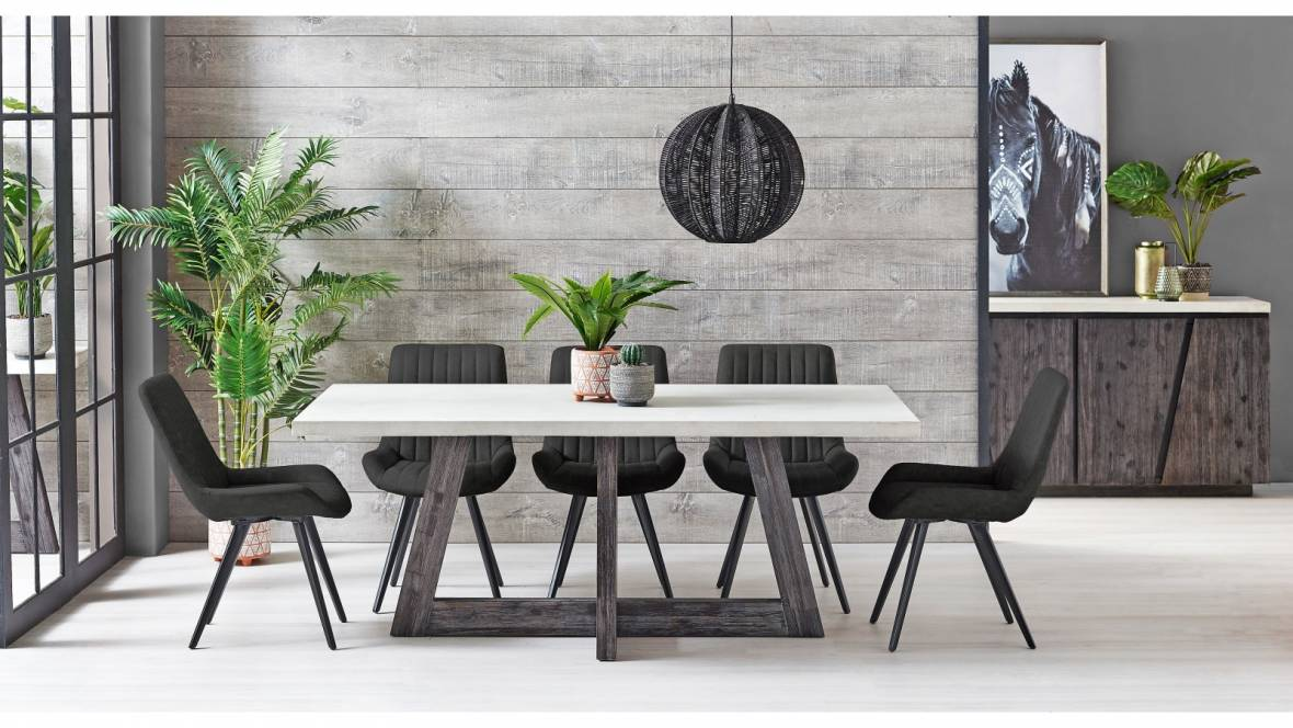 Piza 7-Piece Dining Setting