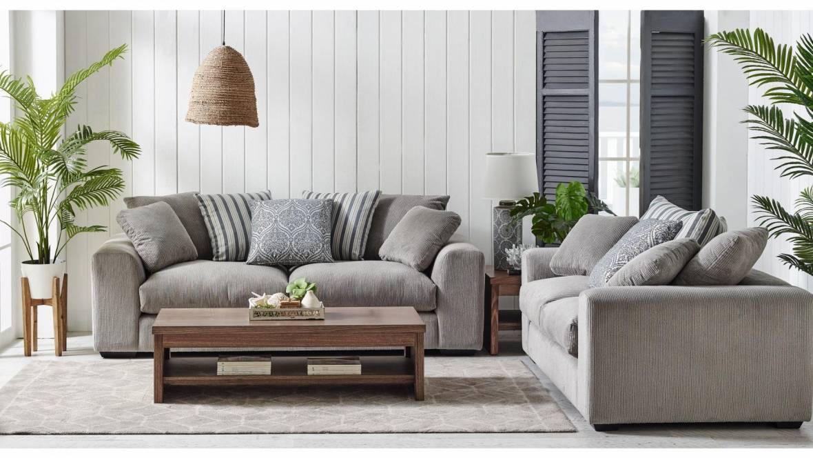Ava 2-Piece Fabric Lounge Suite
