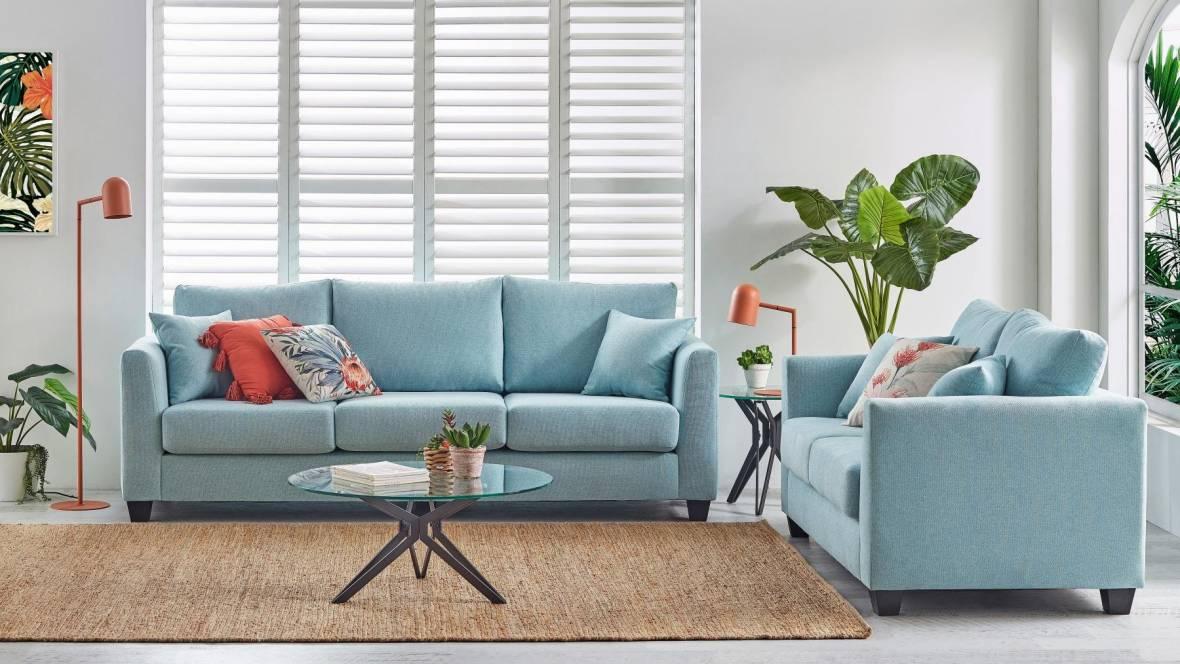 Compton 2-Piece Fabric Lounge Suite