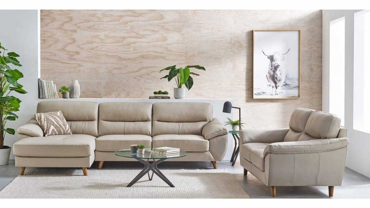 Jazz 2-Piece Leather Lounge Suite
