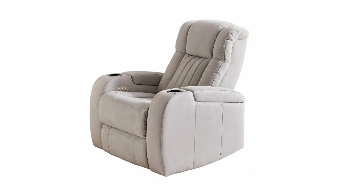 Brockman Fabric Powered Recliner Armchair