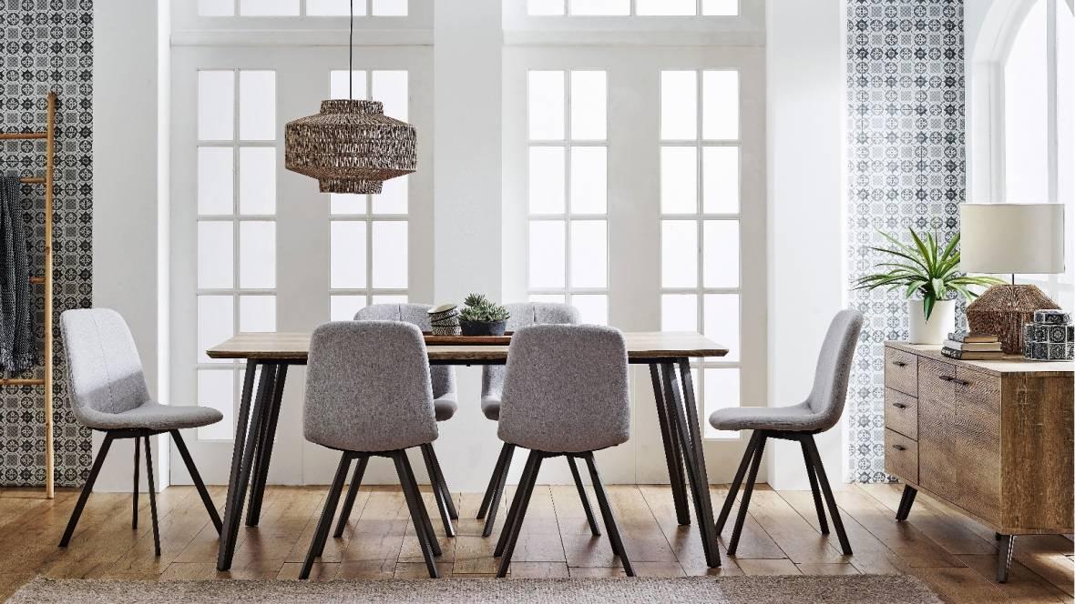 Gwyn 7-Piece Rectangle Dining Setting