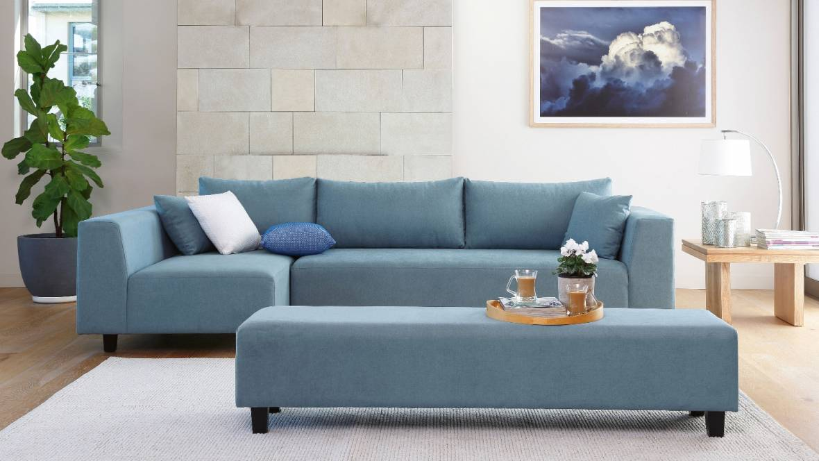 Jessica Fabric Sofa with Chaise