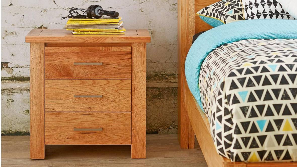 Cargo 3 Drawer Bedside Table