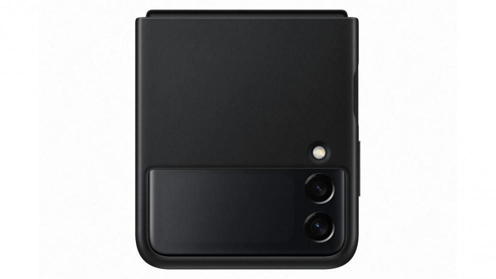 Samsung Galaxy Z Flip3 5G Leather Cover - Black