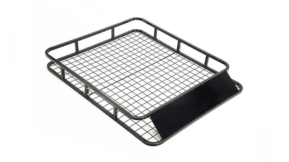 Dynamic Power Steel Roof Rack Luggage Carrier Basket 4WD Black - 121cm