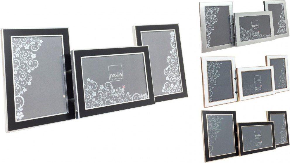 Platinum Eternal Photo Frame fits three 6x4-inch Photos