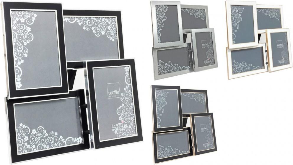 Platinum Eternal Photo Frame fits four 6x4-inch Photos
