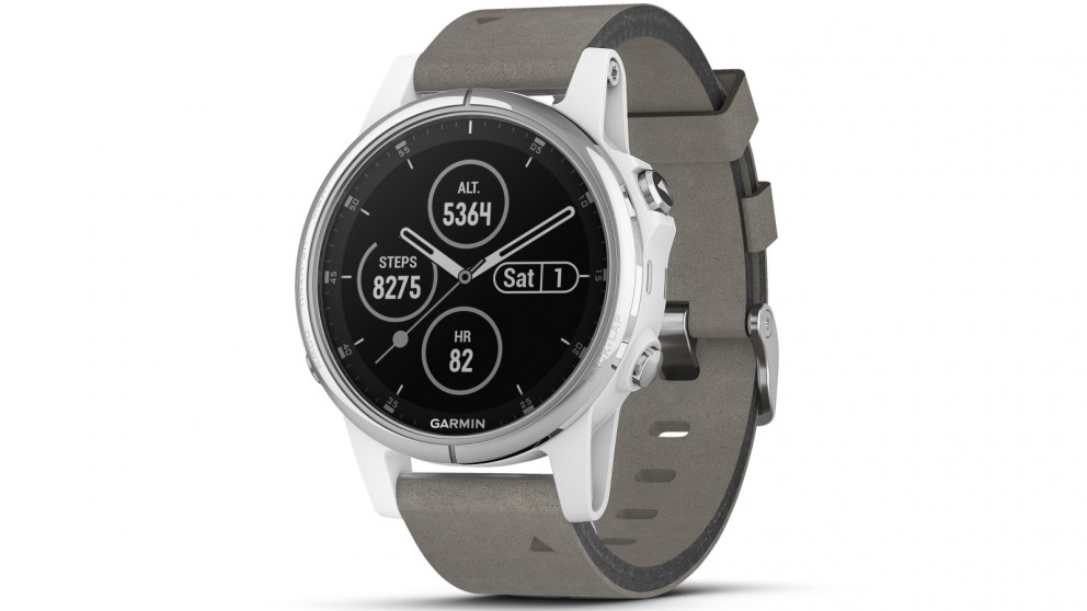 buy garmin fenix 5s plus sapphire edition gps smart watch white rh harveynorman com au